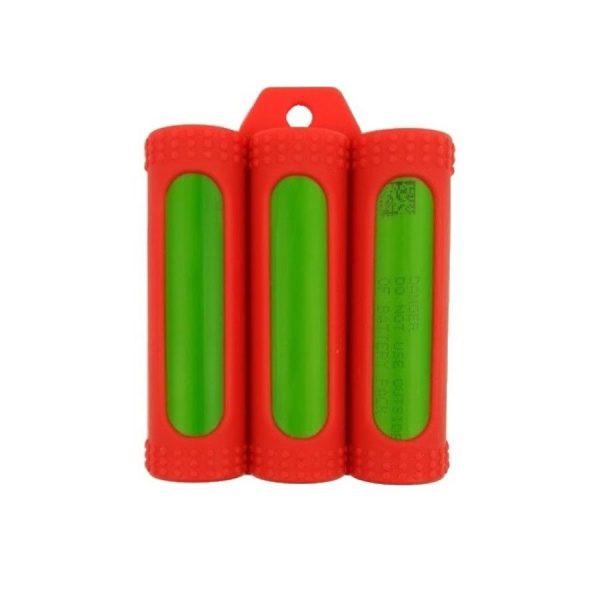 CM Rubber Case Triple 18650 Rot
