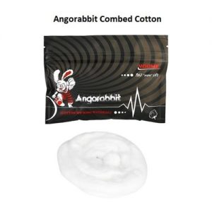Angorabbit Black Combed Cotton