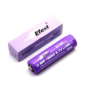Efest IMR18650 2100mAh Button Top