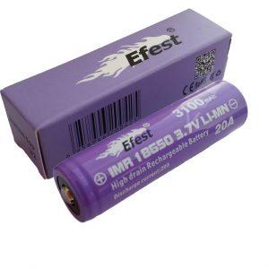 Efest Purple IMR 18650 3100mAh Button Top