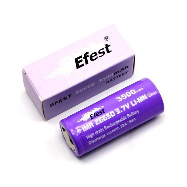 Efest Purple IMR 26650 Akku 3500mAh 32A - 64A - A