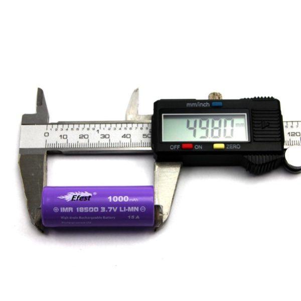Efest Purple IMR18500 - 1000mAh FT - C