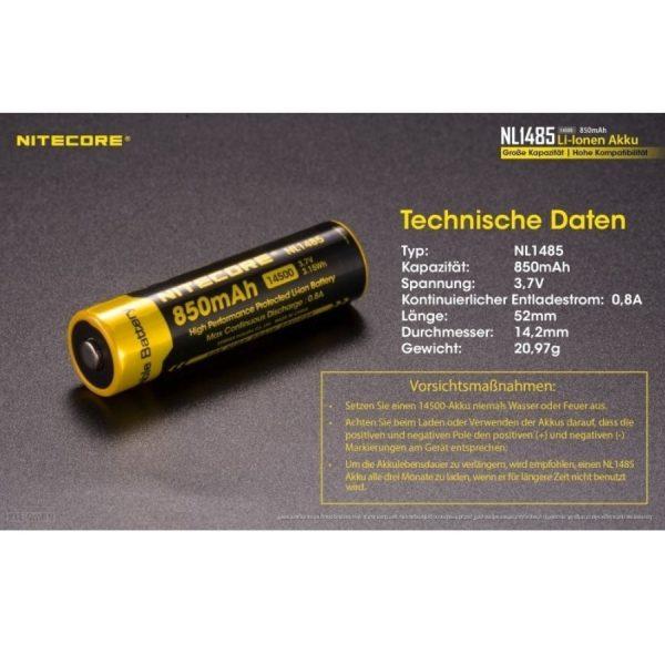 Nitecore 14500 NL1485 - F