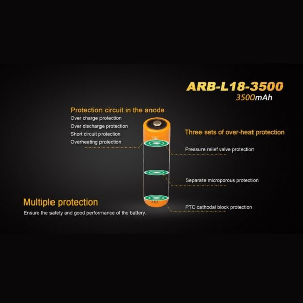 Fenix 18650 ARB-L18-3500 - D